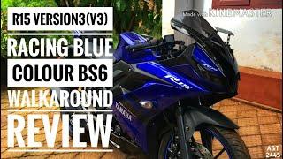 R15 version 3(v3) racing blue colour walk around