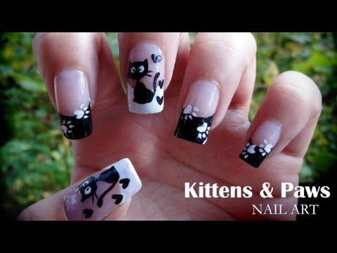 Kittens & Paws nail art