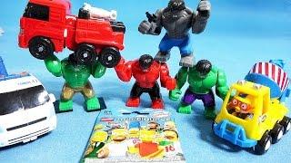 레고 헐크 뽀로로 또봇 4종류 슈퍼히어로즈 헐크 레고 심슨 장난감 unboxing hulk toys
