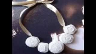 Contemporary crochet jewelry