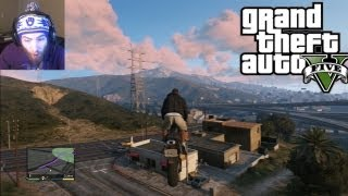Epic GTA 5 MotorCycle House Ramp! Grand Theft Auto 5 Fun Gamplay