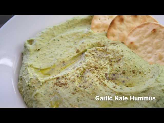 How to Make Garlic Kale Hummus