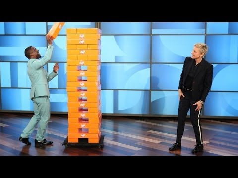 Kevin Hart and Ellen Play Jenga