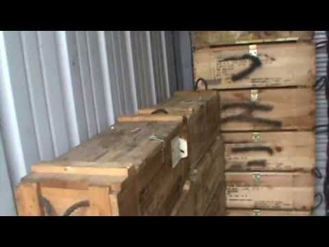 Wooden Army Ammo Boxes Rocket Boxes Wooden Ammo