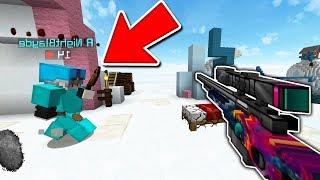 BEDWARS SNIPER BOW CHALLENGE!| Minecraft Bedwars Challenge
