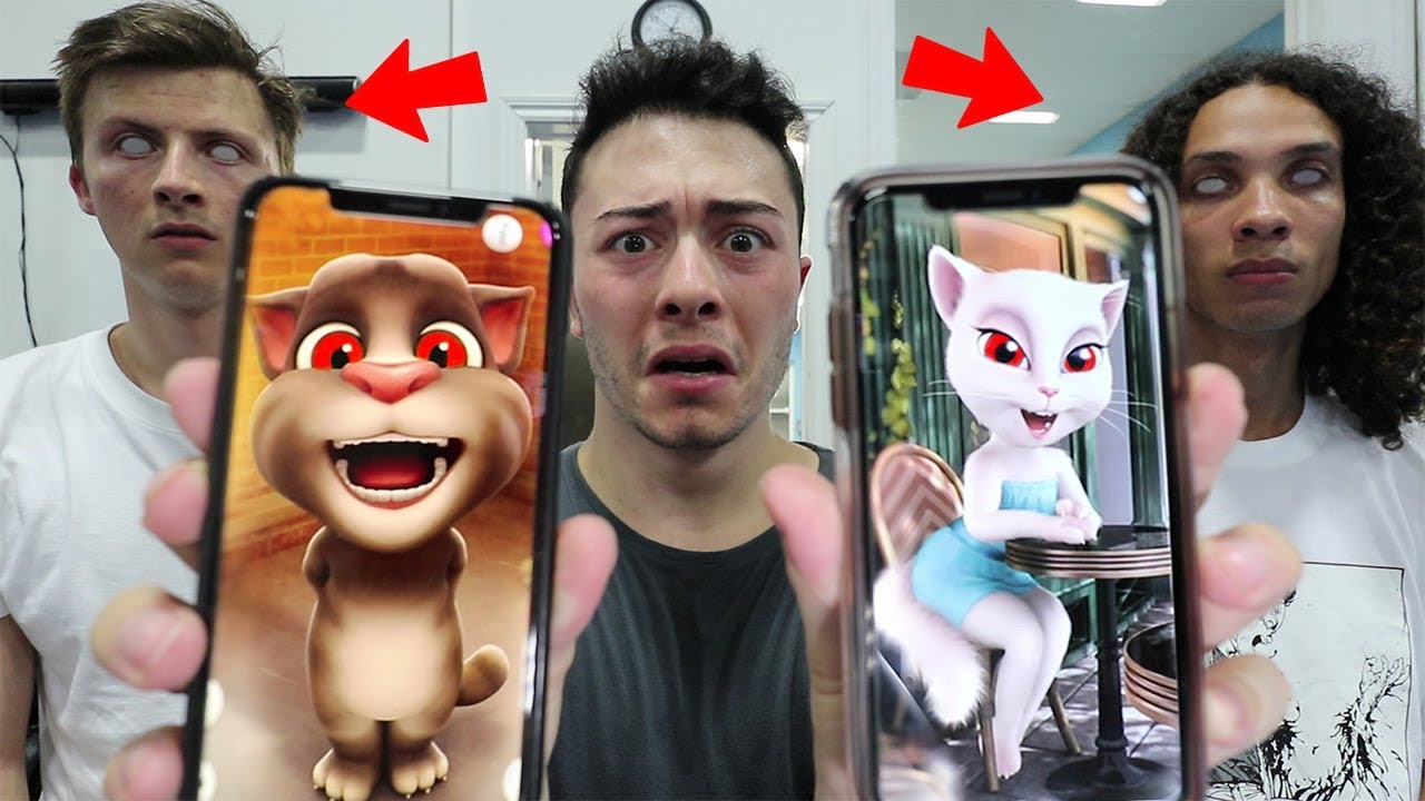 (SCARY) CALLING TALKING TOM AND TALKING ANGELA AT 3 AM!! *THEY ARE HERE*