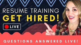 🔴 How To Write a Professional Resume Q&A + LIVE Resume Reviews