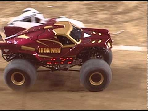 Advance Auto Parts >> Monster Jam - Grinder vs. Iron Man Monster Truck - Detroit 1.8.11 - YouTube