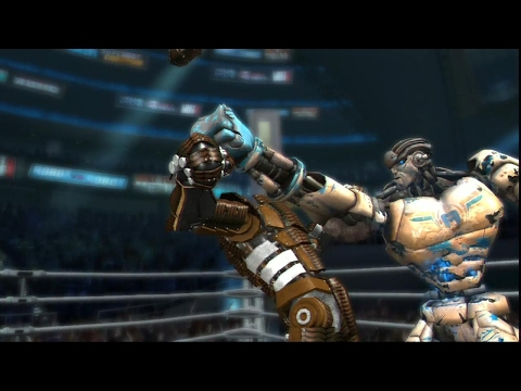 REAL STEEL THE VIDEO GAME-PALLADIUS vs PIGSY & ASHRA & AMBUSH (ЖИВАЯ СТАЛЬ)-СНОСИМ ГОЛОВУ