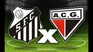 Santos 4 x 2 Atletico GO - Brasileirão 15/09/2010 - Jogo Completo