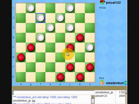 great American checkers player in yahoo games USA 3rd game