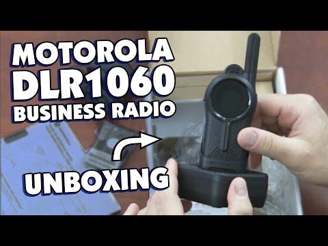 Motorola DLR1060 Digital Business Two Way Radio Unboxing