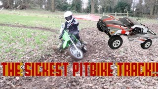 Pit Biking With CRF-KLX 110 & Indoor RC Car Trials Track..