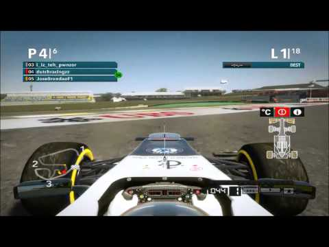 F1 2012 Multiplayer UGHD League 5 - Crashes