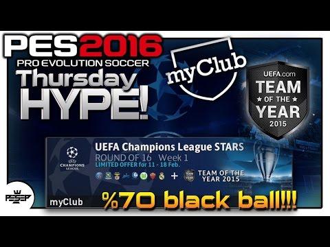 PES 2016 myClub UEFA Champions League + TOTY Agent is BACK! %70 Black ball!