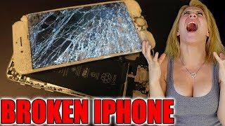 BREAKING MY GIRLFRIENDS iPHONE PRANK!