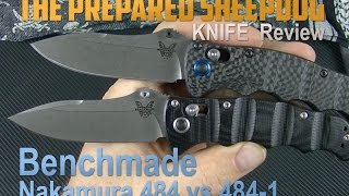 Benchmade Nakamura 484 VS 484-1 - G-10 or Carbon Fiber - Folding Knife Review