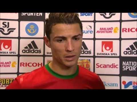 Sweden Vs Portugal 2-3 (2-4) Cristiano Ronaldo Interview (World Cup Qualification) 2013-11-19