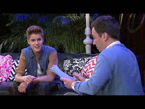 Justin Bieber And Jimmy Fallon - Youtube Presents video