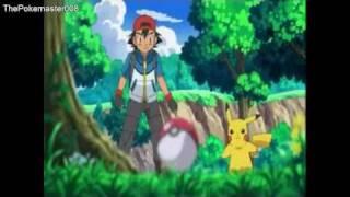 Pokemon Ash Catches Mamepato!