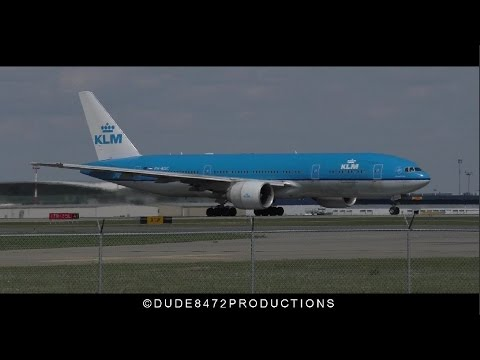 KLM 777-206ER [PH-BQC] Taxi and Takeoff from Calgary Airport ᴴᴰ