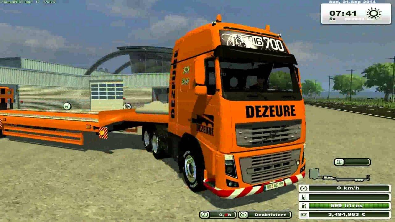 Ls 2013 Pack Camion Et Porte Char Dezeure Youtube