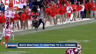 Tampa Bay Buccaneers select Alabama tight end O.J. Howard in the first round of 2017 NFL Draft