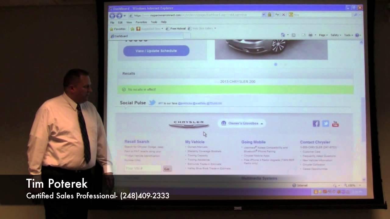 Mopar Owner Connect Overview W Tim Poterek Golling