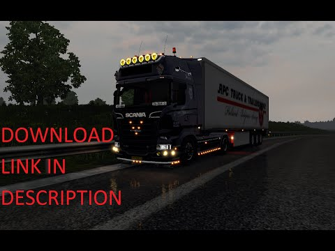 ETS2 Scania V8 sound mod update 7.1 for patch 1.15