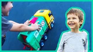 Epic Toy Recycling Truck Race