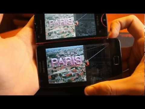 Comparativa Pantalla Xperia Ray Vs Samsung Galaxy S 2 en Androidsis.com