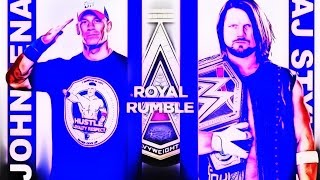 WWE Royal Rumble 2017 - John Cena VS AJ Styles (WWE World Heavyweight Championship) Match HD