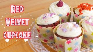 Hướng dẫn làm bánh Red Velvet Cupcake cho ngày Valentine♡Truc's hobbies♡