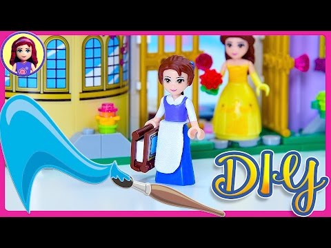 Lego Beauty & the Beast Belle Blue Dress Custom DIY Mini doll Disney Princess How to Tutorial Craft