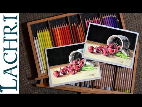 Polychromos Vs Luminance colored pencil review & demo w/ Lachri
