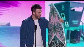 Chris Evans wins Choice Movie Actor - Teen Choice Awards 2016