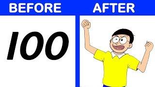 How To Turn Number Into Nobita Cartoon - Doraemon   How To Draw    EshaSpark   Esha Gosavi