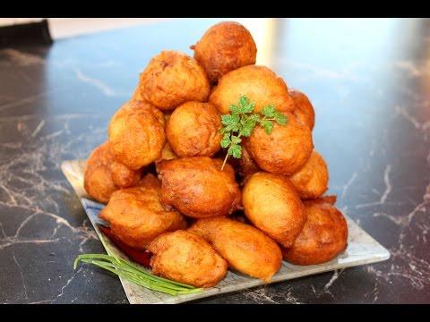 Картофельные пончики.