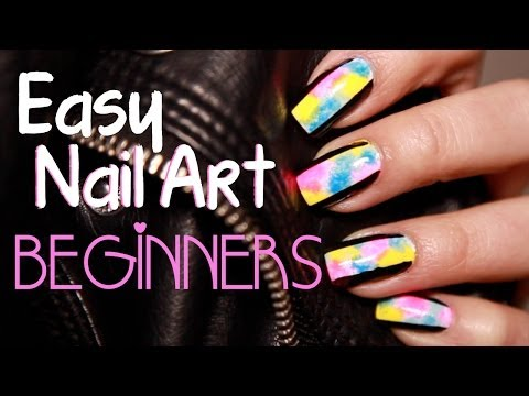 2 Easy Spring Nail Art Designs For Beginners ♡ video