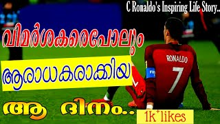 C Ronaldo inspirational life story | malayalam inspirational video