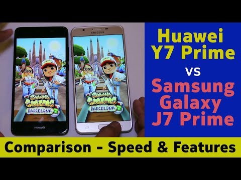 Speed & Features Comparison Huawei Y7 Prime vs Galaxy J7 Prime