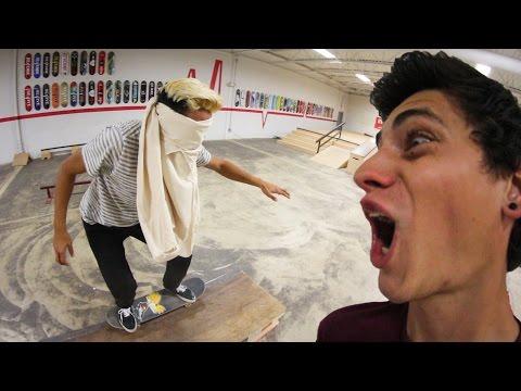 BLINDFOLDED SKATEBOARDING! (Very Dangerous!)