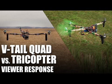 Flite Test - V-Tail Quad vs. Tricopter - Viewer Response