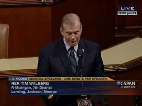 Rep Walberg speaks on President Obama's Budget