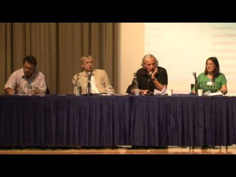 John Pilger and others at Rebellious Media Conference