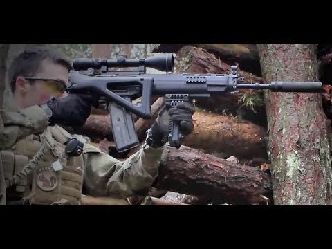 Airsoft War Sig 550. MP44. M1A1 POW Scotland HD