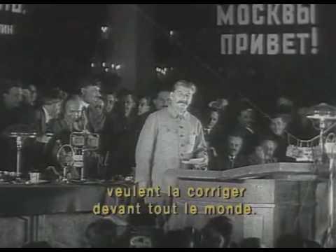 Сталин на открытии метро