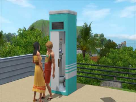 Sims 3 Island Paradise: All-in-One Bathroom Woohoo