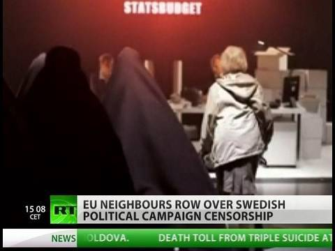Censored: Row over anti-immigration ad banned in Sweden Video