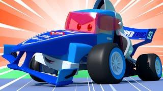 Video về xe tải dành cho thiếu nhi - Xe đua 2 - Siêu xe tải Carl 🚚⍟ những bộ phim hoạt hình về